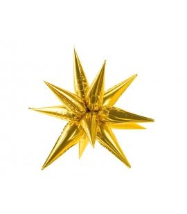 Balon foliowy Gwiazda 3D, 95cm, złoty