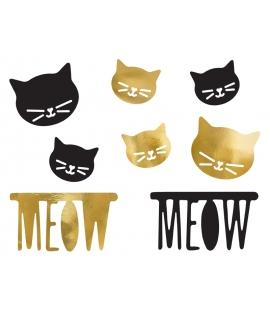 Dekoracje papierowe Kotek 8szt.