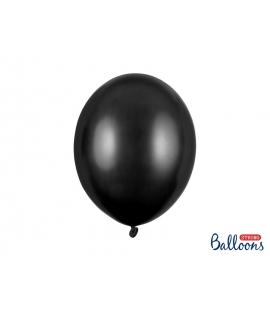 Balony 30cm czarny metalik 10szt.