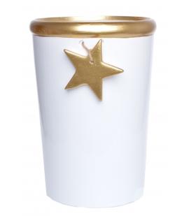 Doniczka ze złotą gwiazdką