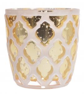 Szklany świecznik złoty