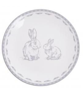 Talerz z zajączkami duży Easter Bunny