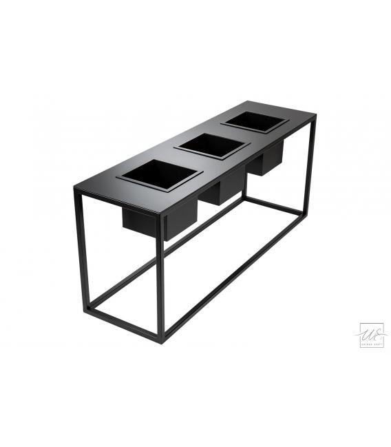 Stolik z donicami kwadratowymi PINO