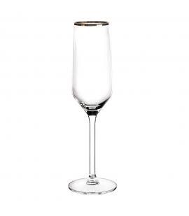 Kieliszki do szampana Rubin Gold Komplet 6szt.