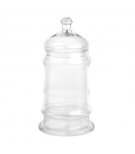 Bomboniera szklana z pokrywką duża